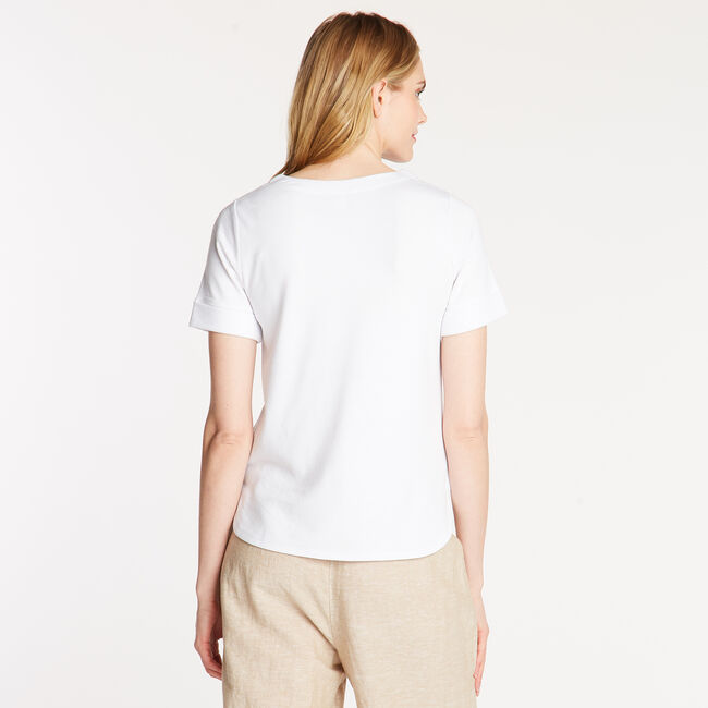 CLASSIC FIT LACED TEE,Bright White,large