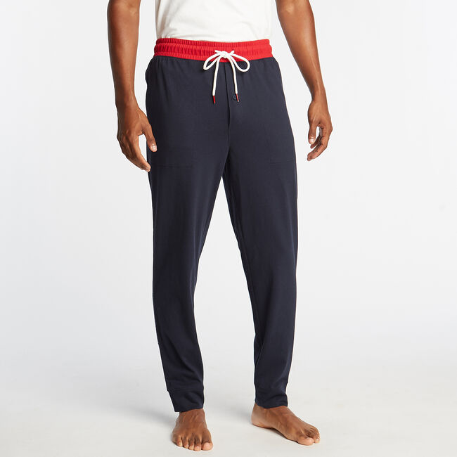 CLASSIC FIT GRAPHIC HERITAGE SLEEP JOGGERS,Navy,large