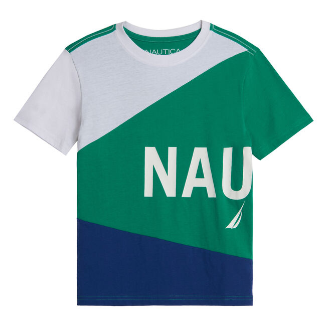 TODDLER BOYS' COLORBLOCK LOGO GRAPHIC T-SHIRT (2T-4T),Dusty Neptune,large