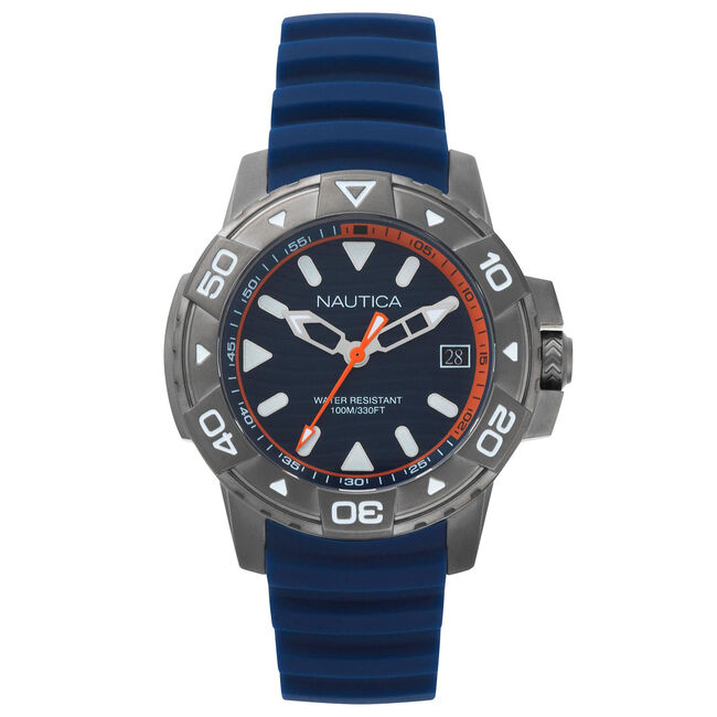 Edgewater Silicone Watch - Navy,Navy,large