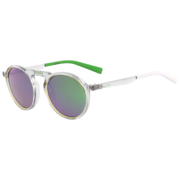 RETRO SHAPE SUNGLASSES - Crystal Clear