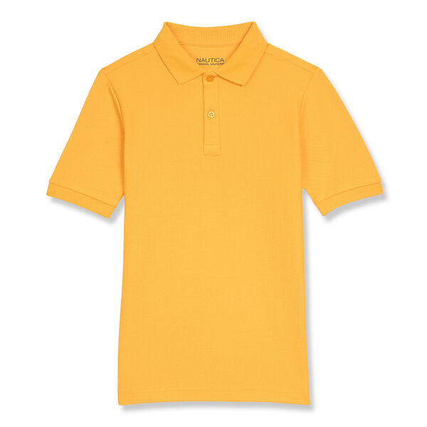 BOYS' PERFORMANCE POLO (8-20) - Heritage Gold