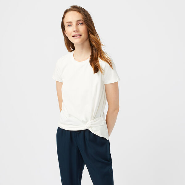 SIDE KNOT JERSEY TOP - Marshmallow