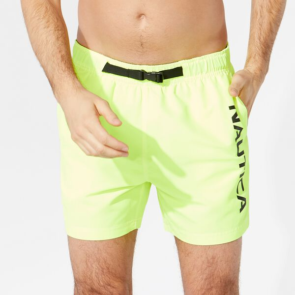 "6"" BUCKLE-ACCENTED SWIM SHORTS - Nautica Yellow"
