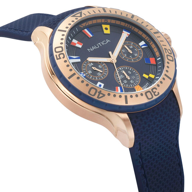 Auckland Multifunction Watch - Blue,Ice Blue,large