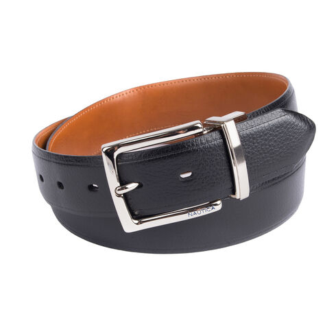 Reversible Pebbled Belt - True Black