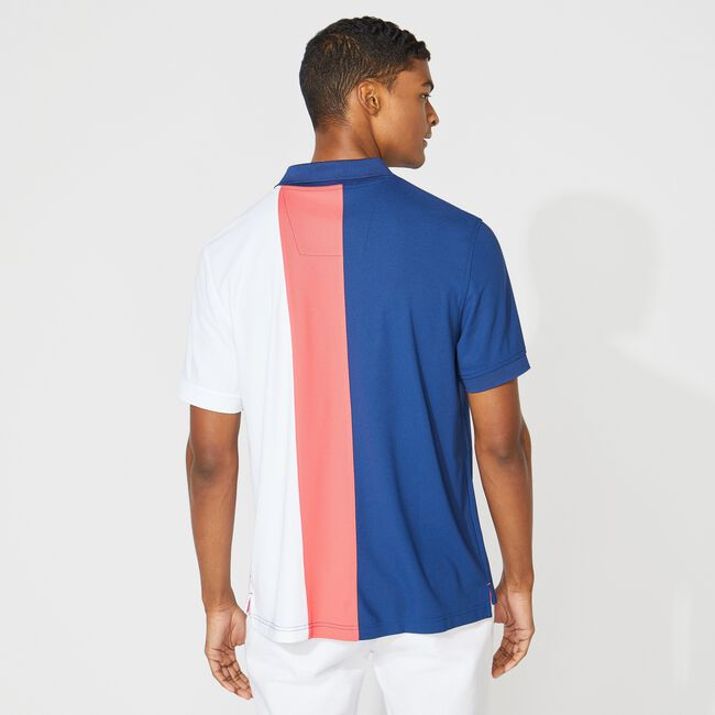 CLASSIC FIT NAVTECH COLORBLOCK POLO,Estate Blue,large