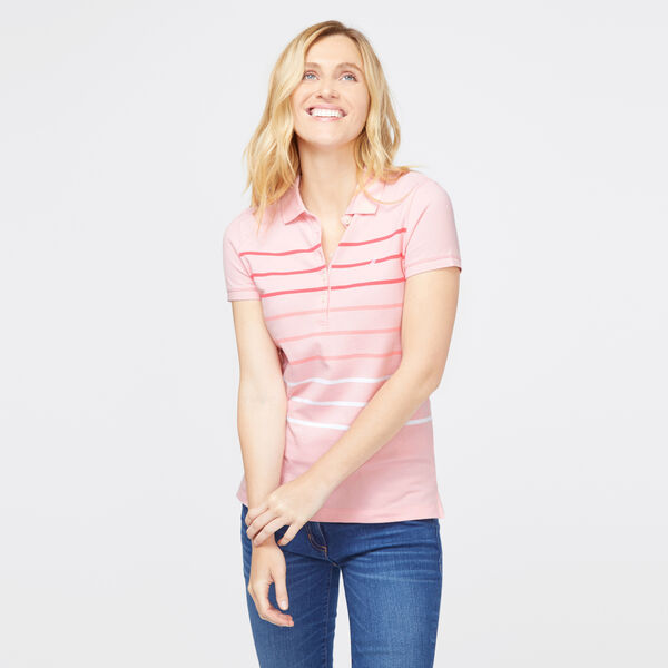 OMBRE STRIPE CLASSIC POLO SHIRT - Prism Pink