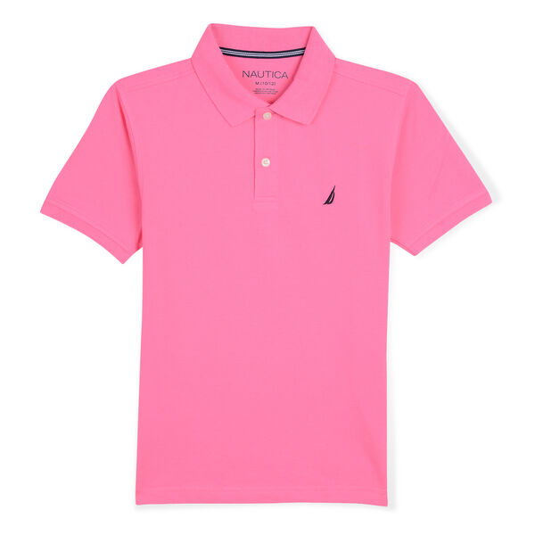 LITTLE BOYS' STRETCH DECK POLO (4-7) - Pale Coral