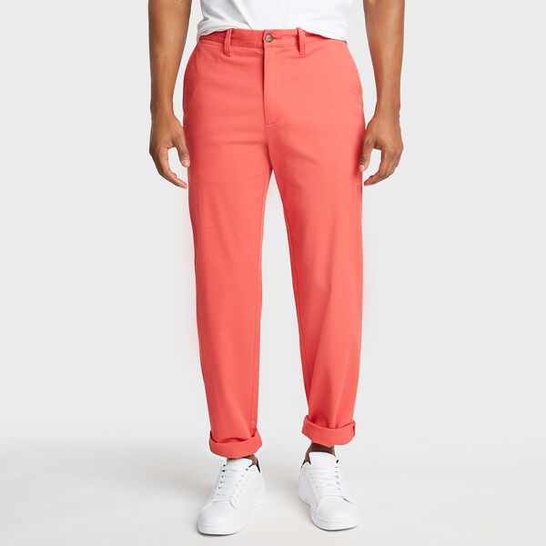 CLASSIC FIT FLAT FRONT DECK PANT - Sailor Red