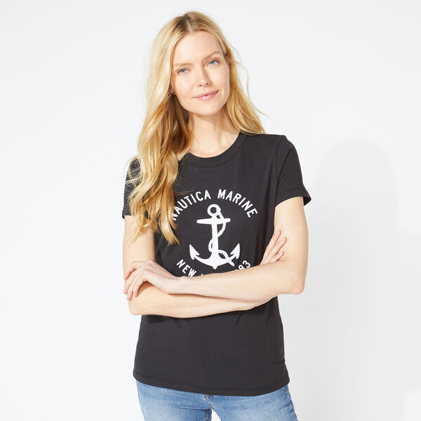 NAUTICA MARINE GRAPHIC T-SHIRT - True Black