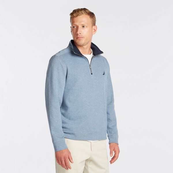 J-CLASS QUARTER-ZIP PULLOVER - Anchor Blue Heather