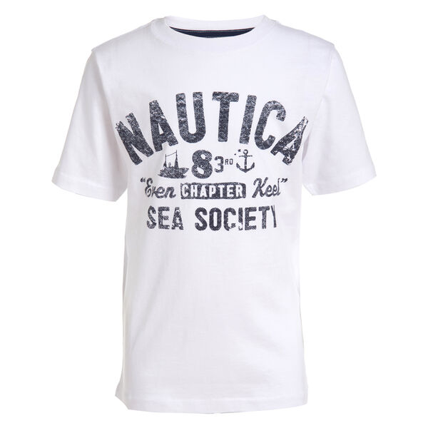 LITTLE BOYS' SEA SOCIETY GRAPHIC T-SHIRT (4-7) - Antique White Wash