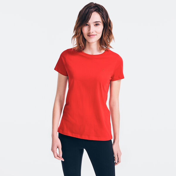 SOLID CREWNECK T-SHIRT - Tomales Red