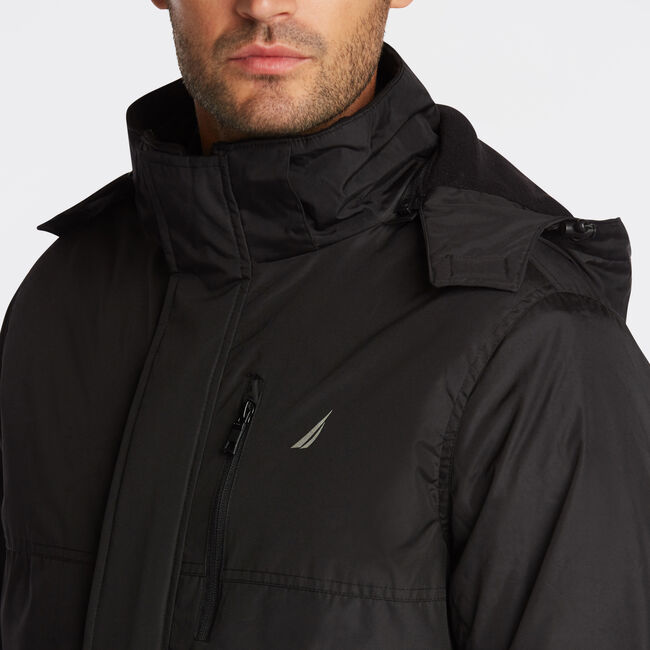 BIG & TALL 3-IN-1 ALL WEATHER JACKET,Black,large