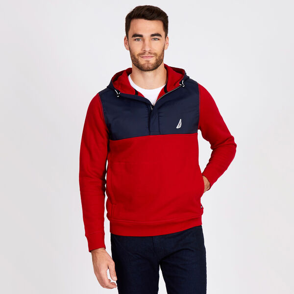 COLORBLOCK TECH-FLEECE HOODIE - Nautica Red