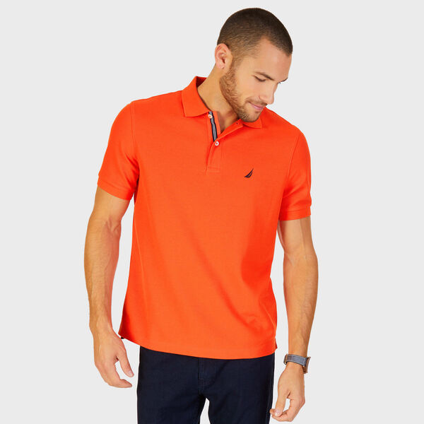 Short Sleeve Performance Deck Polo Shirt  - Spicy Orange