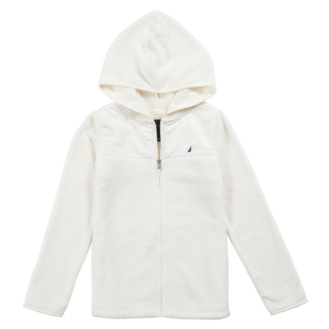 Little Girls' Faux Fur Nautex Jacket (4-6X),Bright White,large