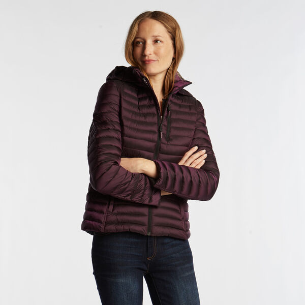WOMEN'S QUILTED PACKABLE COAT - Majestic Purple