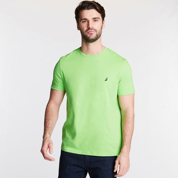 Solid Short Sleeve Crewneck T-Shirt - Fresh Lime