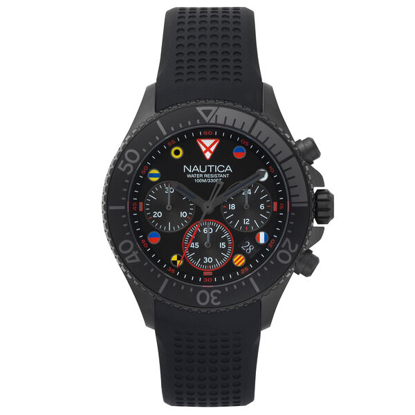 Westport Silicone Chronograph Watch - Black - Black