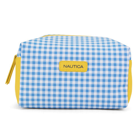 Gingham Shadowbox Case - French Blue
