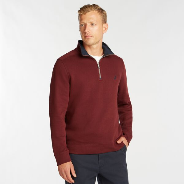 J-CLASS QUARTER-ZIP PULLOVER - Royal Burgundy
