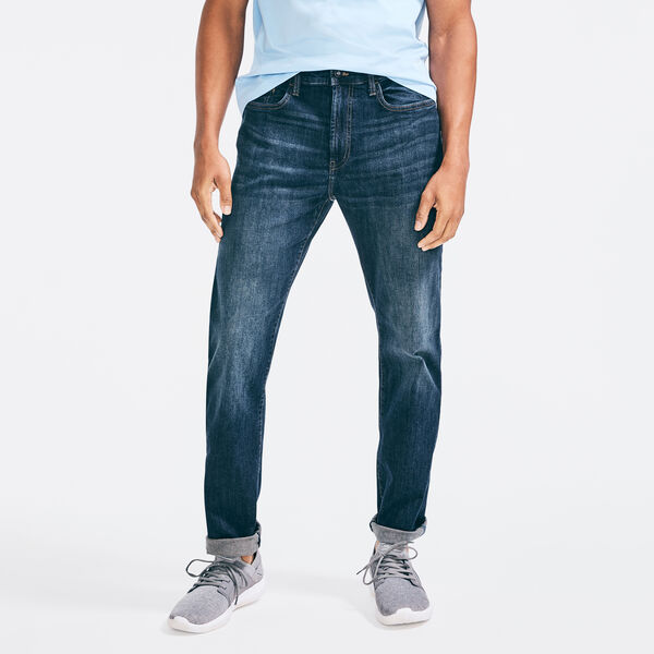 STRAIGHT FIT STRETCH DENIM - Lakeside Indigo Denm Wash