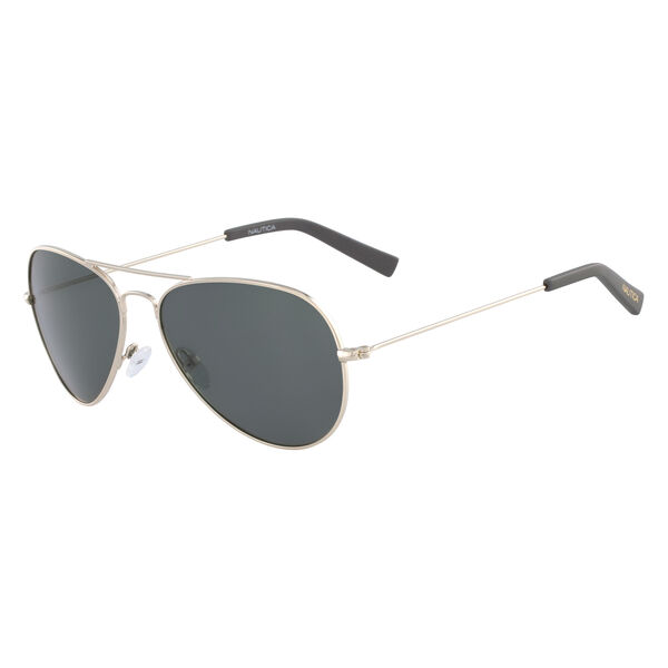 Classic Aviator Sunglasses with Gold Frame - Rugby Yellow