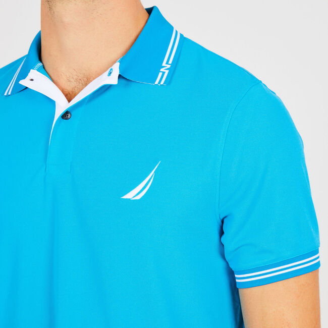 Solid Classic Fit Navtech Polo,Bright Blue Jig,large