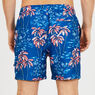 Palm Tree Full-Elastic Swim Shorts,J Navy,large