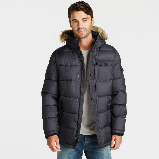 BIG & TALL PARKA WITH REMOVABLE HOOD,Pure Deep Bay Wash,large