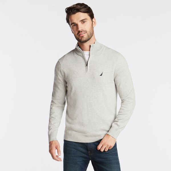 QUARTER ZIP NAVTECH SWEATER - Grey Heather