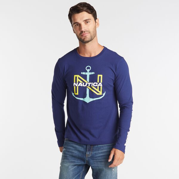 BIG & TALL  N-ANCHOR T-SHIRT - J Navy
