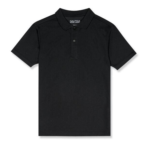 BOYS' PERFORMANCE POLO (8-20) - Black