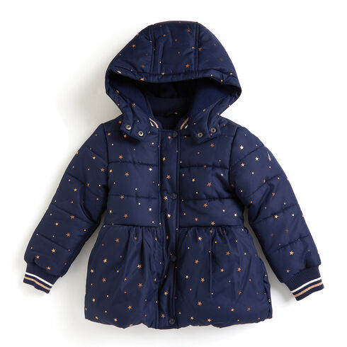 Girls' Metallic Star High-Waist Coat (7-16) - Navy