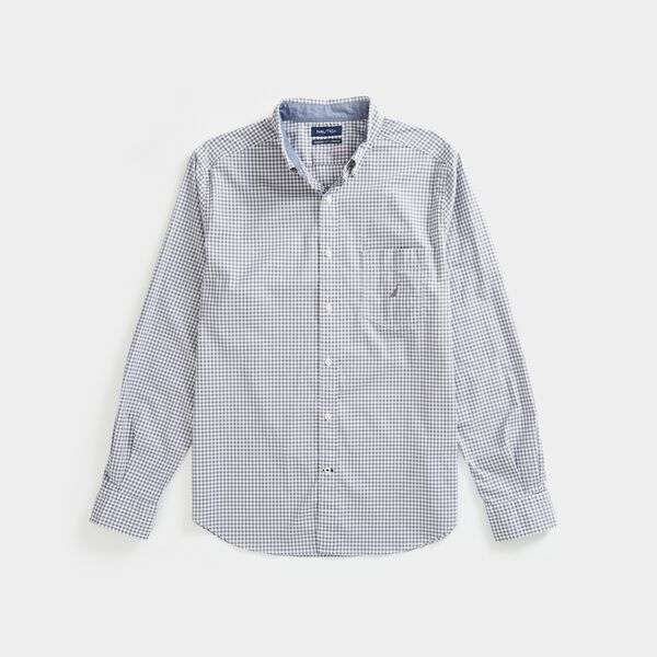 CLASSIC FIT STRETCH GINGHAM SHIRT - Blue Yonder Heather