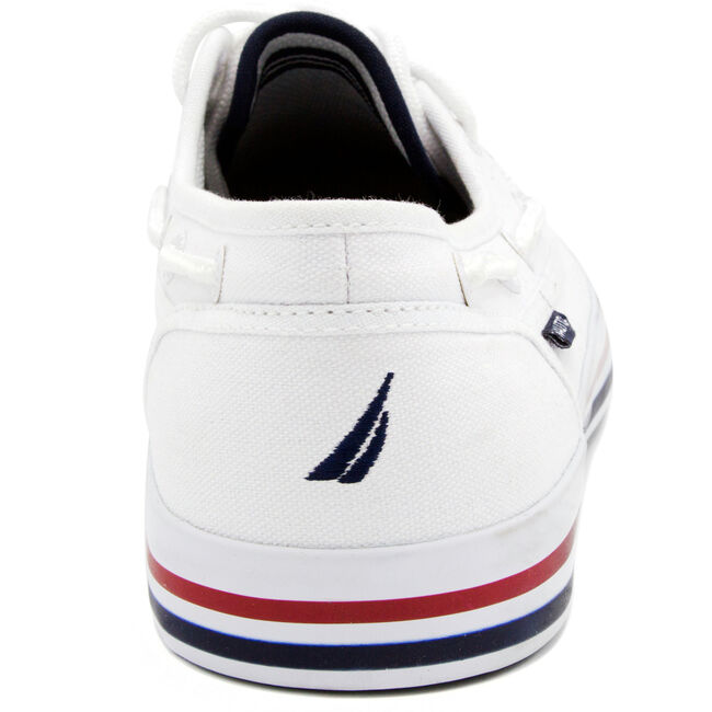 Spinnaker Boat Shoes - White,White,large