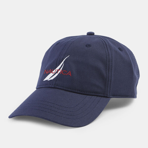 NAUTICA LOGO 6-PANEL CAP - Navy