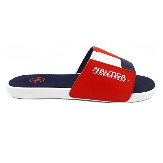 NAUTICA COMPETITION SLIDE IN RED COLORBLOCK,Nautica Red,large