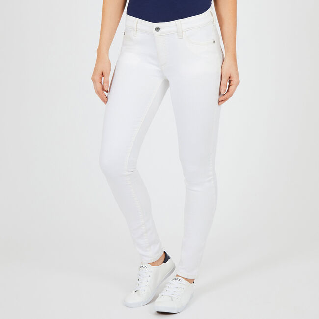Flat Front Skinny Fit Jeans,Bright White,large