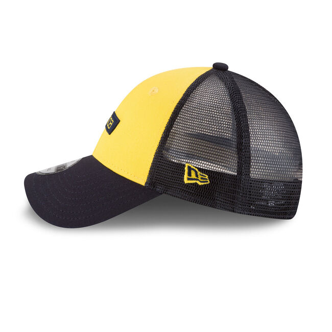 Colorblock Hydro Mesh Panel Baseball Cap,Marigold,large
