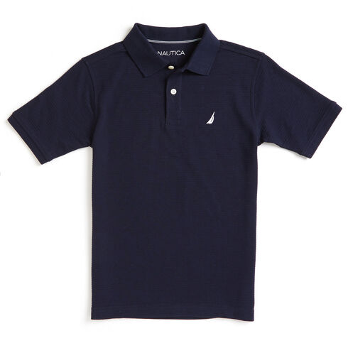 Boys' Baron Ottoman Striped Deck Polo (8-20) - Sport Navy