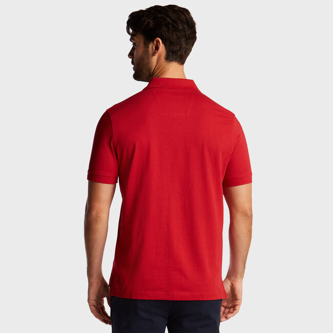 Short Sleeve 'N' Classic Fit Polo ,Rescue Red,large