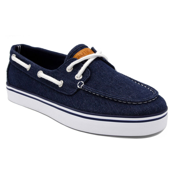 Galley Boat Shoe in Navy Denim - Outward Navy Denim