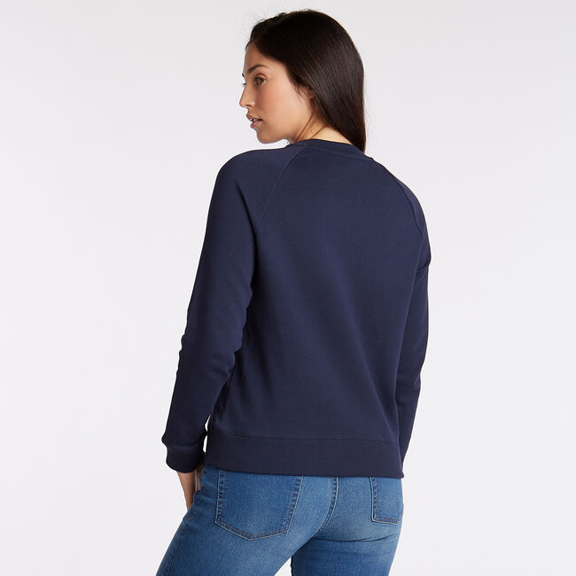 Logo French Terry Pullover,Stellar Blue Heather,large