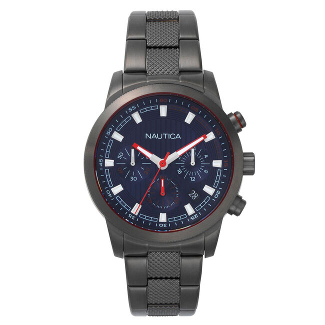 Taylor Water Resistant Chronograph Watch,French Blue,large