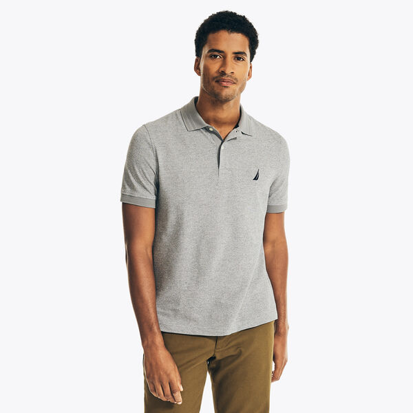 CLASSIC FIT JASPE PIQUE POLO - Stone Grey Heather