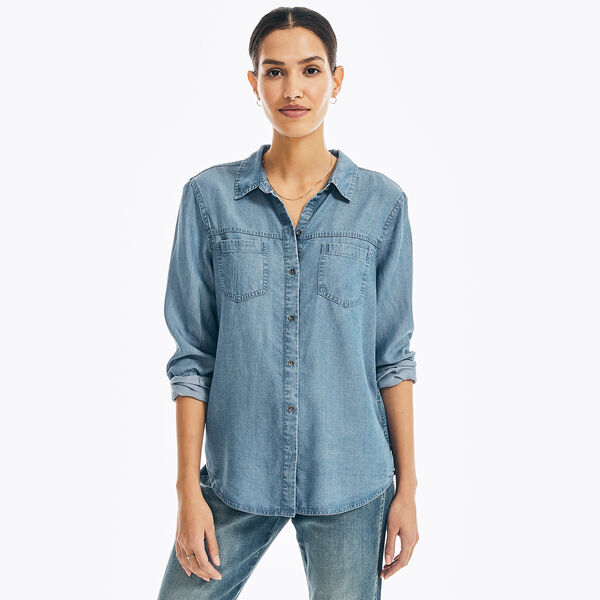 NAUTICA JEANS CO. SUSTAINABLY CRAFTED DENIM SHIRT - Tugboat Blue
