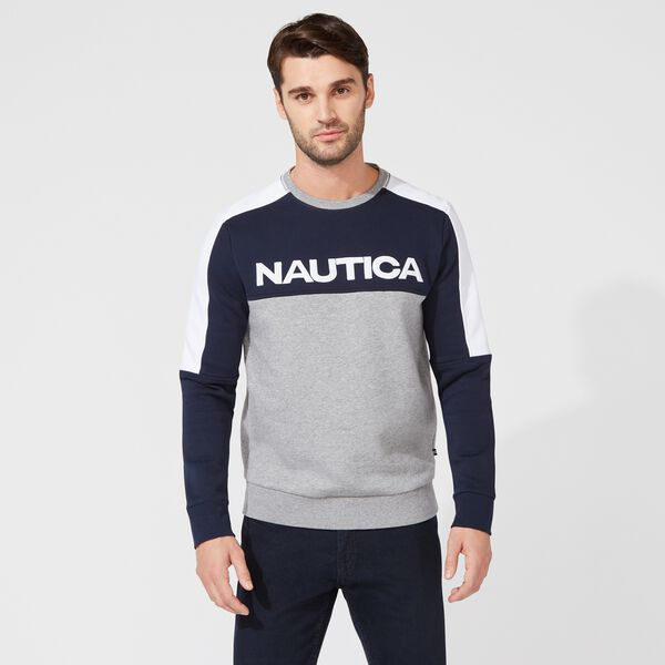 COLORBLOCK LOGO SWEATSHIRT - Navy